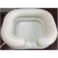 Приспособления для мытья головы лежачих больных: ванночка, надувной подголовник, таз
