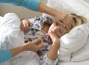 У ребенка сильно болит голова и температура 39, 38, 37